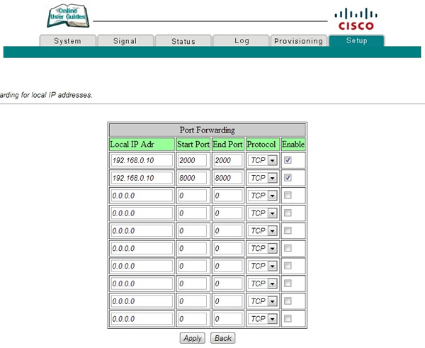 Abrir puertos (Natear) en Router CISCO DPC2425 | Zoom